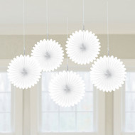Mini White Hanging Fan Decoration - 15.2cm (5)
