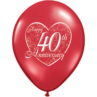 40th Anniversary Latex Balloons (6)