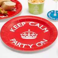 Keep Calm and Party Paper Plates (8)