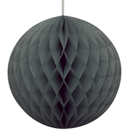 Black Honeycomb Ball Paper Decoration (20cm)