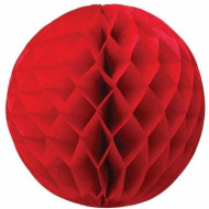 Red Honeycomb Ball Paper Decoration (20cm)