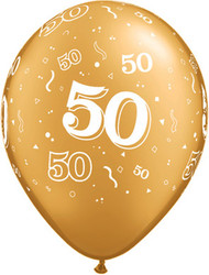 50th Aged Latex Balloons (6)