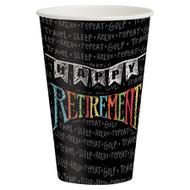 Retirement Chalk Plastic Cups (8)