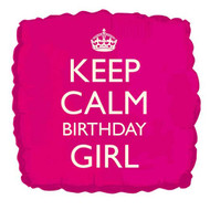 Keep Calm Birthday Girl Foil Balloon (18 Inch)
