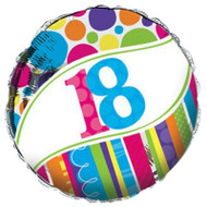 Bright And Bold 18th Foil Balloon (18 Inch)