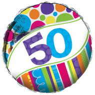 Bright And Bold 50th Foil Balloon (18 Inch)
