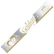 Golden Anniversary Foil Banner