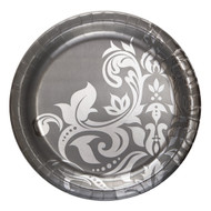 Silver Scroll  Banquet Plates (18)