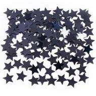Black Star Metallic Confetti