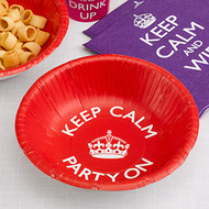 Keep Calm and Party Paper Bowls (8)