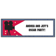 Reel Hollywood Party Giant Banner With Stickers