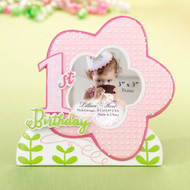 1st birthday Pink Flower Frame (3inx3in)