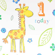 1st Birthday Giraffe Greeting Card