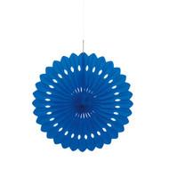 Paper Dark Blue Hanging Fan Decoration (1)