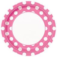 Pink Big Polka Dot Lunch Plates (8)