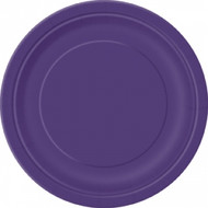 Dark Purple Round plates (8)