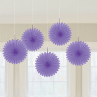 Purple Mini Fan decorations (5)