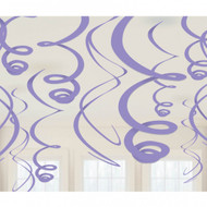 Purple Plastic Swirl Decorations  (8)