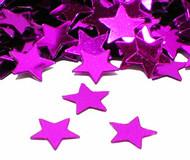 Hot Pink Star Metallic Confetti