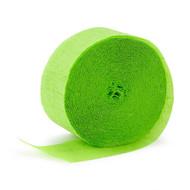 Crepe Streamer Lime Green garland (81ft)