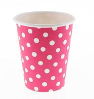 Pink Big Polka Dot Cups (6)