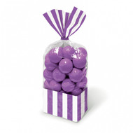 Candy Buffet Striped Party Bags Purple (10)