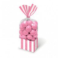 Candy Buffet Striped Party Bags Light Pink (10)