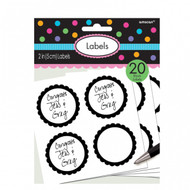 Candy Buffet Scalloped Labels Black (20)
