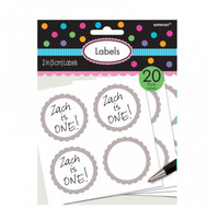 Candy Buffet Scalloped Labels Silver (20)