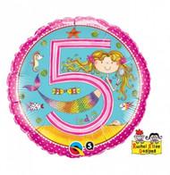Rachel ellen 5th Birthday Girl Foil Balloon (18in)