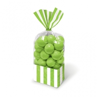 Candy Buffet Striped Party Bags Kiwi Green (10)