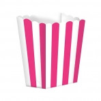 Candy Buffet Popcorn Treat Boxes Bright Pink (5)