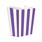 Candy Buffet Popcorn Treat Boxes Purple (5)