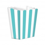 Candy Buffet Popcorn Treat Boxes - Turquoise (5)