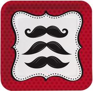 Moustache Madness Dessert Plates (8)