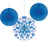 Tissue Fan Assortment Royal Blue (3)