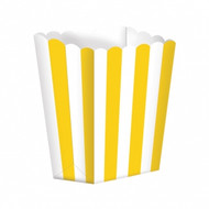 Candy Buffet Popcorn Treat Boxes - Sun Yellow (5)
