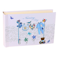 Naming Day Boy Washing Line Guest Book (40pg)