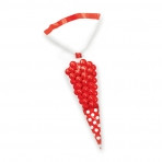 Candy Buffet Cone Polka Dots Bags Apple Red (10)