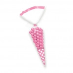 Candy Buffet cone Polka Dots Bags Light Pink (10)