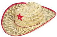 Kids Straw Sheriff Hat With Star