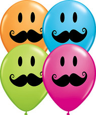 Moustache Latex Balloons 11in (6)