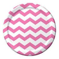 Chevron Candy Pink Plates (8)