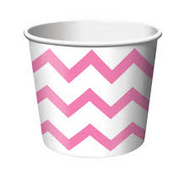 Chevron Candy Pink Treat Cups (6)