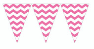 Chevron Candy Pink Flag Banner (9ft)