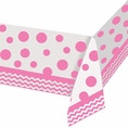 Chevron Classic Pink Tablecover (52in x 102in)