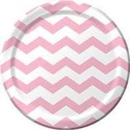 Chevron Classic Pink Plates (8)