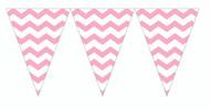 Chevron Classic Pink Flag Banner (9ft)