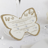 Elegant Butterfly Scratch Trivia Ivory and Gold  (10)