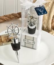 Ship's wheel design wine bottle stoppers